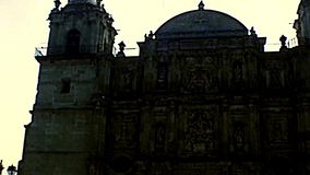 Archivalische Kathedrale von Oaxaca in Mexiko stock video