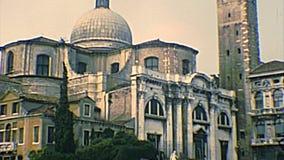 Archivalische Kirche Venedigs San Geremia stock video footage