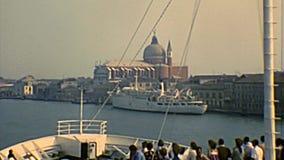 Archivalische Kirche Venedigs Santissimo Redentore stock video footage