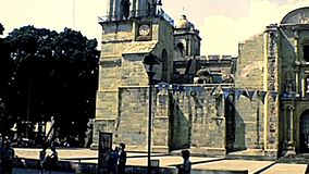 Archivalische Oaxaca-Kathedrale in Mexiko stock video