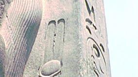 Archivalische Statue von Ramses II stock footage