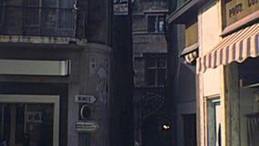 Archivalische Straßen von Avignon stock footage