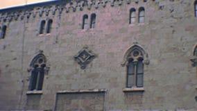 Archivalische Tarragona-Kathedralenstraße stock footage