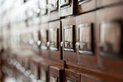 Archivalische Zelle Stockbild