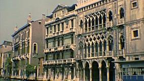 Archivalischer historischer Palast Venedigs Ca 'd 'Oro stock video