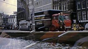 Archivalischer Straßentransport Amsterdams stock video footage