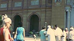 Archivalisches ägyptisches Museum von Kairo stock video