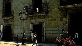 Archivalisches Oaxaca-Stadtzentrum in Mexiko stock footage