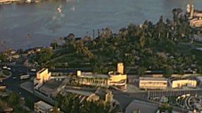 Archivalisches Panorama von Kairo-Turm stock footage