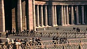 Archivalisches San Pietro-Quadrat von Rom stock video footage