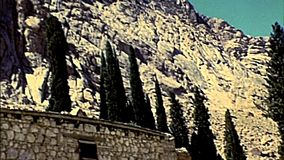Archivalisches Sinai-Heiliges Catherine Monastery stock footage