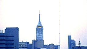 Archivalisches Stadtbild von Mexiko City stock video footage