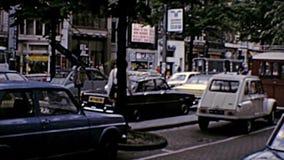 Archivalisches Straßenleben Amsterdams stock video