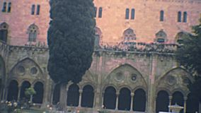Archivalisches Tarragona-Kathedralenkloster stock video footage