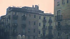 Archivalisches Tarragona-Kathedralenquadrat stock footage