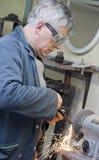 Archivario dell'operaio metallurgico Fotografia Stock