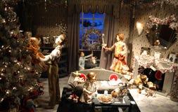 Archivbild der Weihnachtsdekoration in USA Lizenzfreies Stockfoto