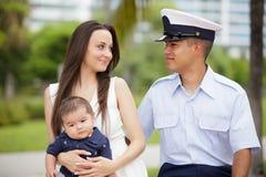 Archivbild einer Militärfamilie Stockbilder