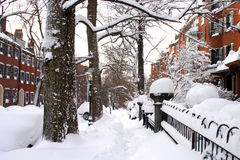 Archivbild von Boston-Winter Stockfotos