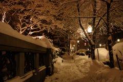 Archivbild von Boston-Winter, Boston, USA Lizenzfreies Stockfoto