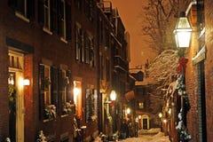 Archivbild von Boston-Winter, Boston, USA Stockbild