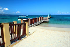 Archivbild von Cave Beach Club, Montego Bay, Jamaika Doktors Stockfoto