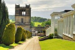 Archivbild von Chatsworth-Haus, Derbyshire, Großbritannien Stockbilder
