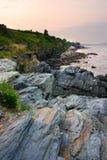 Archivbild von Cliff Walk - Newport, Rhode Island Stockfoto