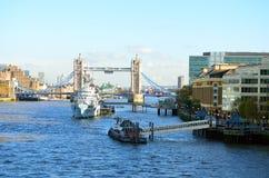 Archivbild von der Themse, London, Großbritannien Stockbild
