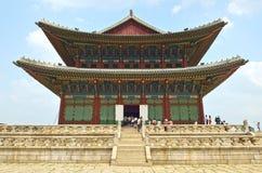 Archivbild von Gyeongbok-Palast, Seoul, koreanische Republik Stockfotografie