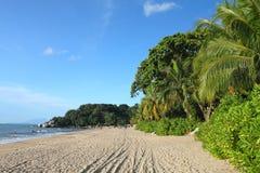 Archivbild von Sandy-Strand in Batu Ferringhi, Penang-Insel, Malaysia Lizenzfreies Stockbild