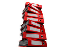 Archive. 3d illustration of archive folders stack Royalty Free Stock Image
