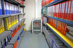 Archive. A storage room with Computer Network hub Stock Image