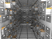 Archive. Abstract 3d illustration of data storage room Royalty Free Stock Photo