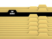 Archive bookmarks. Of card index with top secret tab Royalty Free Stock Photos