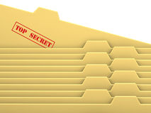 Archive bookmarks. Of card index with top secret tab Royalty Free Stock Photo