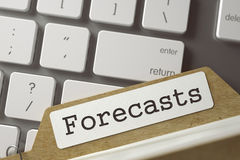 Archive Bookmarks of Card Index-Forecasts. 3D. Royalty Free Stock Photos