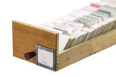 Archive box from the library Royalty Free Stock Image