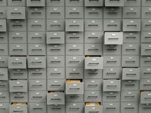 Archive cabinets with files Royalty Free Stock Photo