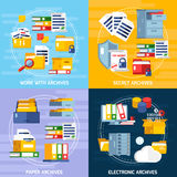 Archive Concept Icons Set Royalty Free Stock Photos