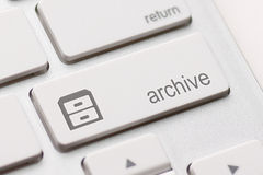 Archive Enter Key Royalty Free Stock Images