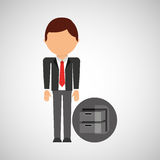 Archive file business man suit worker icon. Vector illustration eps 10 Stock Photos