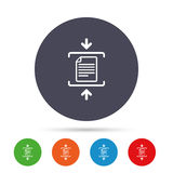 Archive file icon. Compressed zipped file. Stock Images