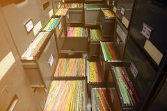 Archive files. File folders in a filing cabinet,For document storage Stock Photography
