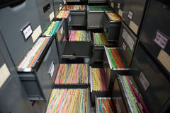 Archive files. File folders in a filing cabinet,For document storage Royalty Free Stock Images