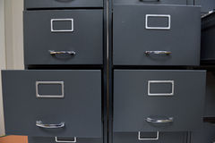 Archive files. File folders in a filing cabinet,For document storage Royalty Free Stock Photography