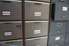 Archive files. File folders in a filing cabinet,For document storage Royalty Free Stock Image