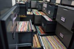 Archive files Stock Photo