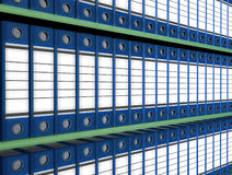Archive folder. Background racks with archival folders Royalty Free Stock Photography