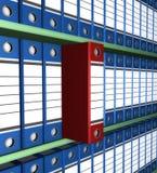 Archive folder. Background racks with archival folders Royalty Free Stock Image